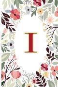 I: Cute Initial Monogram Letter I Notebook