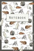 Rat Notebook: Cute Notebook with Rats - Chinese New Year of the Rat - Watercolor Paintings
