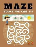 maze books for kids 3-5: maze book for kids 100 Unique Games