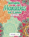 Simple Mandalas to Color Coloring Book