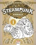 Steampunk Animals 1 - Coloring book for adults: Coloring book for adults (Mandalas) - Anti stress - Steampunk - Volume 1