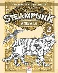 Steampunk Animals 2 - Coloring book for adults: Coloring book for adults (Mandalas) - Anti stress - Steampunk - Volume 2