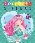 Colorear sirenas - Volumen 2: Libro para colorear para ni?os - 25 dibujos