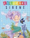 Colorare sirene - Volume 1: Libro da colorare per bambini - 25 disegni