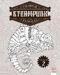 Colorear Steampunk animales - Volumen 2: Libro para colorear para adultos (Mandalas) - Antiestr?s - Volumen 2