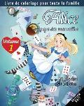 Alice au pays des merveilles - 25 Dessins ? colorier - Volume 1 - Edition nuit: Livre de Coloriage pour toute la famille