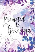 Promoted to Grandma: Floral Memory Book Keepsake - A Treasured Gift From Daughters and Sons (Purple & Blue)
