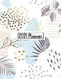 2021 Planner: Daily Weekly Monthly 12 Months Calendar and Organizer Floral Cover Perfect Gift for Women, Girls 8.5 x 11 In v4