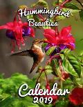 Hummingbird Beauties Calendar 2019: Full-Color Portrait-Style Desk Calendar