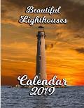 Beautiful Lighthouses Calendar 2019: Full-Color Portrait-Style Desk Calendar