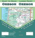 Oregon State Large Print Easy to Read State Map