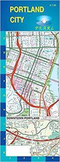 Portland City Street Pearl Laminated Map