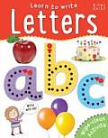 Learn to Write - Letters: Wipe-Clean & Every Page Space to Trace