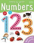 Learn to Write - Numbers: Wipe-Clean & Every Page Space to Trace
