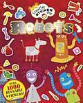 Robots Sticker Book Over 1000 Reusable Stickers