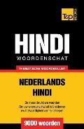 Thematische woordenschat Nederlands-Hindi - 9000 woorden