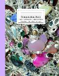 Composition Book Silver Gemstones Sparkle & Shine Wide Rule