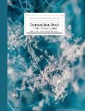 Composition Book Frosty Teal Ice Crystals