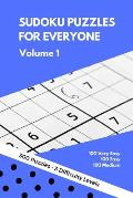 Sudoku Puzzles for Everyone: 300 Very Easy to Medium Puzzles - Perfect for Beginners. Great Gift Idea for Any Occasion. Perfect for Any Kind of Tri