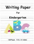 Writing Paper For Kindergarten: Handwriting Printing Practice Writing Paper for Kids