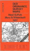 West Suffolk (Bury and Mildenhall) 1897: One Inch Map 189