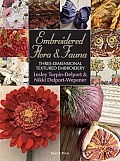 Embroidered Flora & Fauna Three Dimensional Textured Embroidery