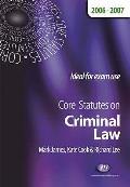 Core Statutes on Criminal Law