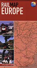 Rail Map Europe 17th Edition