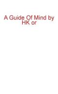 A Detour of Mind