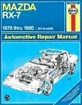 Mazda RX7 Repair Manual 1979 1985 All Models