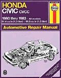 Honda Civic CVCC Repair Manual 1980 1983
