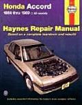 Honda Accord Repair Manual 1984 1989 All Models