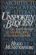 Unspoken Bequest: The Contribution of German Jews to German Culture