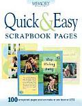 Quick & Easy Scrapbook Pages 100 Scrap