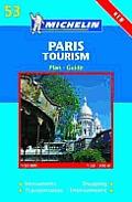 Michelin Paris Tourism Map
