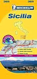 Michelin Map Sicilia 365 Italy Sicily