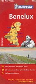 Michelin Benelux Map Belgium The Netherlands