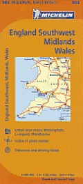 Great Britain Wales The Midlands South West England Map 10th Edition