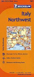 Michelin Italy Northwest Map