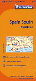 Michelin Spain Andalucia Map 10th Edition