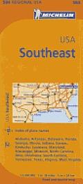 USA Southeast Map 7th Edition