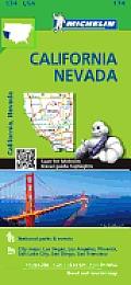 Michelin USA California Nevada Map 174