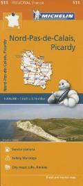 Michelin Regional Maps France Nord Pas de Calais Picardie Map 511