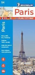 Michelin Paris Street Map Index Map 54