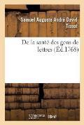 De la sant? des gens de lettres