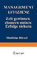 Management Effizienz: Zeit Gewinnen Chancen Nutzen Erfolge Sichern