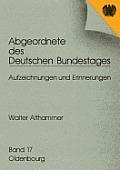 Abgeordnete Des Deutschen Bundestages, Band 16, Walter Althammer