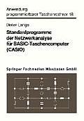 Standardprogramme Der Netzwerkanalyse F?r Basic-Taschencomputer (Casio)