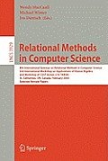 Relational Methods in Computer Science: 8th International Seminar on Relational Methods in Computer Science, 3rd International Workshop on Application