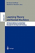 Learning Theory and Kernel Machines: 16th Annual Conference on Computational Learning Theory and 7th Kernel Workshop, Colt/Kernel 2003, Washington, DC